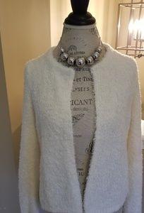 Loft Cream sweater blazer